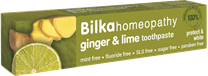 Bilka Homeopathic Ginger & Lime Toothpaste 75ml